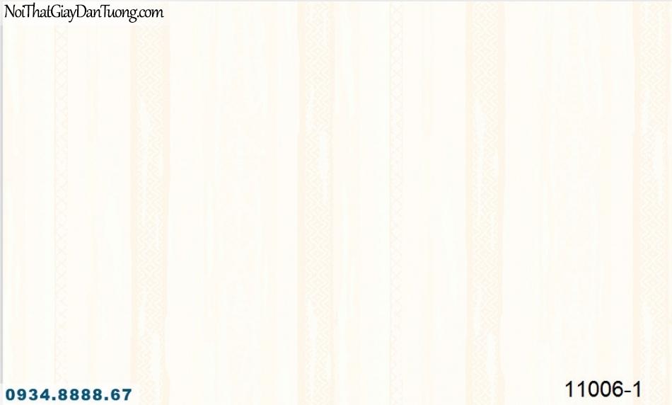 Giấy dán tường AQUAMAN, giấy dán tường sọc bản to, bản lớn mà vàng, vàng kem, sọc xuôi 11006-1