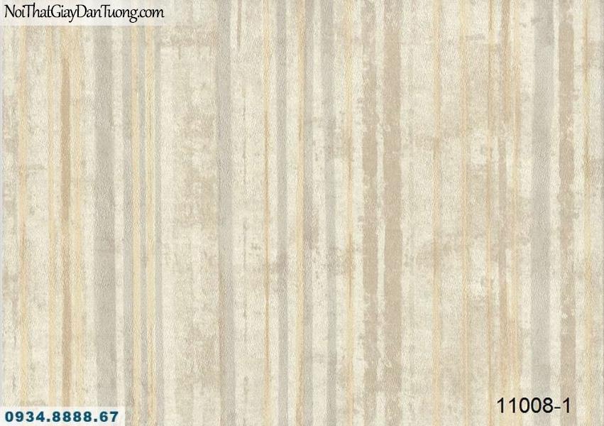 Giấy dán tường AQUAMAN, giấy dán tường sọc loang màu vàng kem, hoa văn họa tiết kiểu gỗ mục, gỗ mốc 11008-1