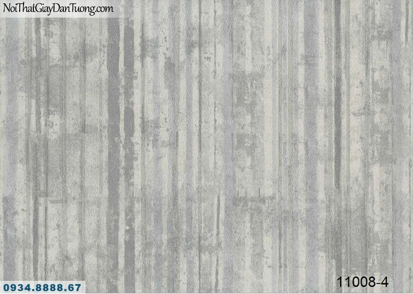 Giấy dán tường AQUAMAN, giấy dán tường sọc xuôi giả gỗ màu xám, màu nâu đất 11008-4