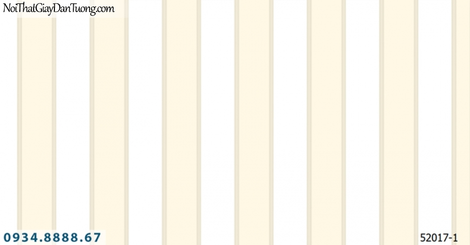 Giấy dán tường NEPTUNE, giấy dán tường sọc màu trắng vàng, vàng trắng, vàng kem 52017-1