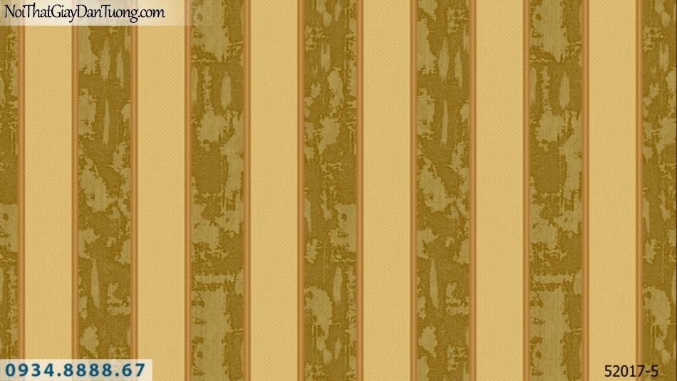 Giấy dán tường NEPTUNE, giấy dán tường sọc, sọc vàng tươi, vàng nâu 52017-5