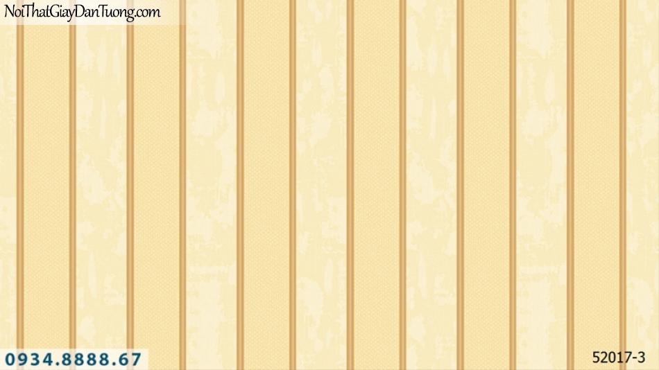 Giấy dán tường NEPTUNE, giấy dán tường sọc vàng kem, vàng tươi, vàng đậm, màu vàng 52017-3