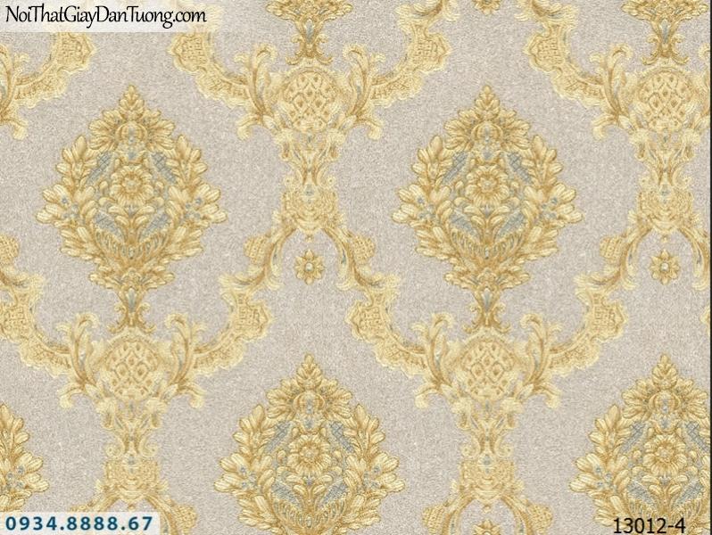 Giấy dán tường NEPTUNE, hoa văn cổ điển màu vàng sáng trọng, style Châu Âu, lịch lãm 13012-4