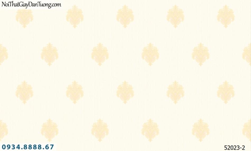 Giấy dán tường NEPTUNE, nền kem bông vàng, họa tiết cổ điển 52023-2