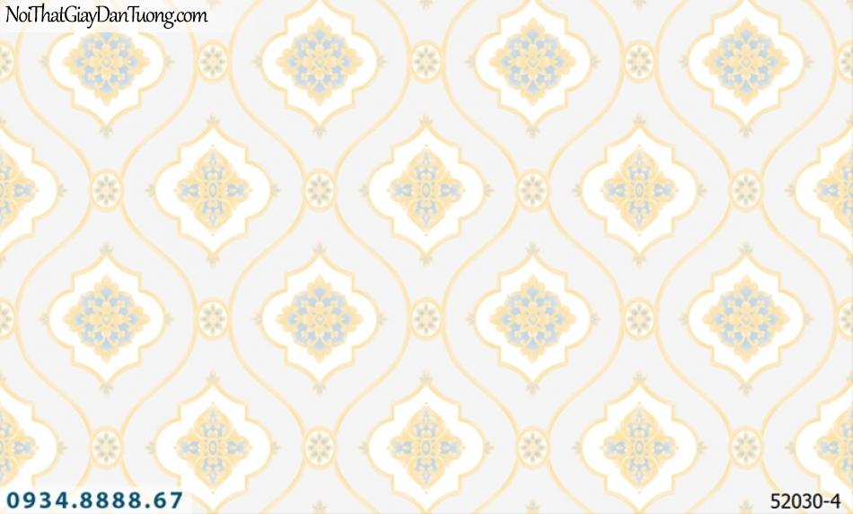 Giấy dán tường NEPTUNE, nền màu môn hoa văn vàng 52030-4