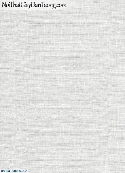 Giấy dán tường AURORA, Giấy dán tường gân nổi màu trắng, màu xám trắng, trắng bạc 4206-1