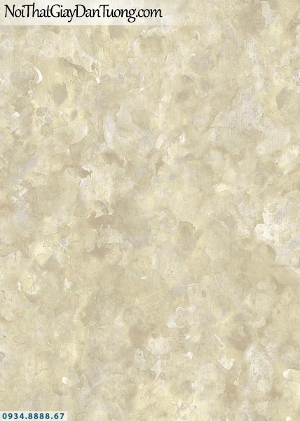 Giấy dán tường AURORA, Giấy dán tường giả bê tông, xi măng màu vàng, màu vàng kem, vàng trắng, vân bê tông trắng vàng 4208-3