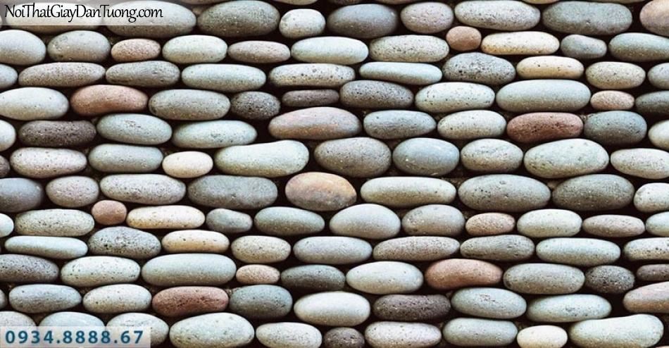 Giấy dán tường AURORA, Giấy dán tường giả giả đá viên, hòn đá nhỏ, đá sỏi 3D 4217-1
