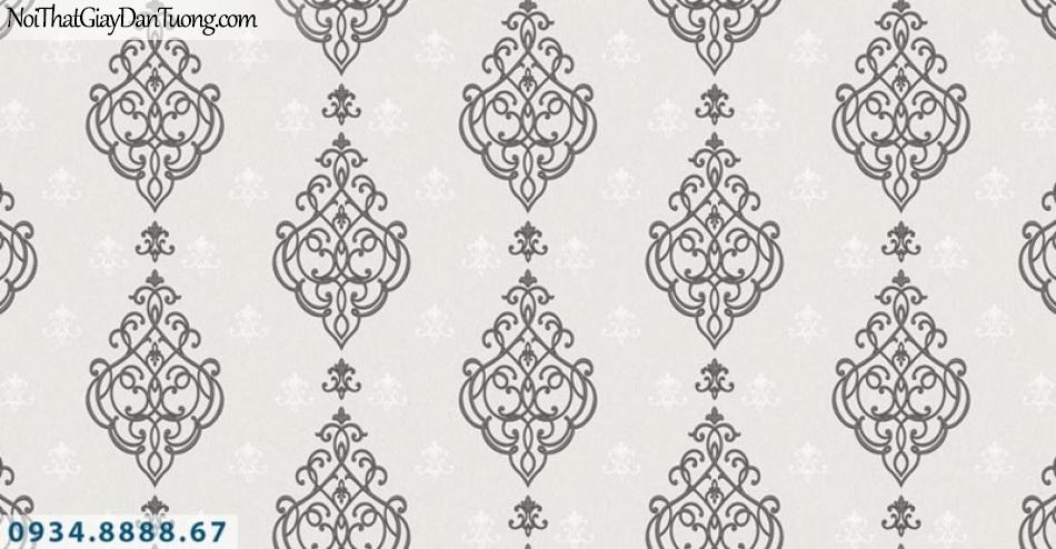 Giấy dán tường AURORA, Giấy dán tường màu xám, nâu xám phong cách cổ điển 4211-3