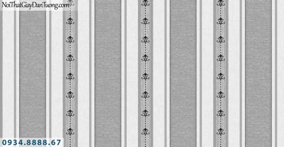 Giấy dán tường AURORA, Giấy dán tường sọc đen trắng, nâu trắng, nâu xám, sọc to sọc nhỏ, sọc thẳng đẹp 4212-3