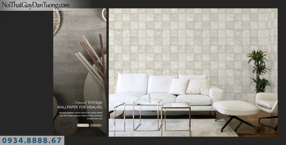 Giấy dán tường PIEDRA, giấy dán tường 3D, giá đá, giả gỗ, màu trắng xám 22-045
