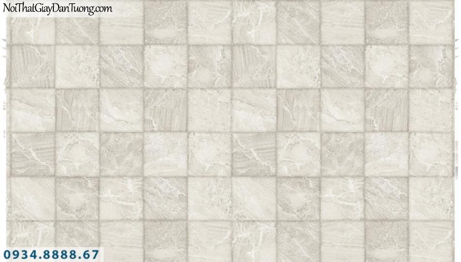 Giấy dán tường PIEDRA, giấy dán tường 3D màu xám trắng, những ô vuông thẳng hàng tạo bóng 3D 22-045