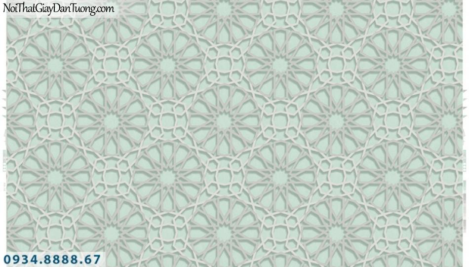Giấy dán tường PIEDRA, giấy dán tường 3D màu xanh lơ, hoa văn họa tiết hình bánh xe dây xích 22-035