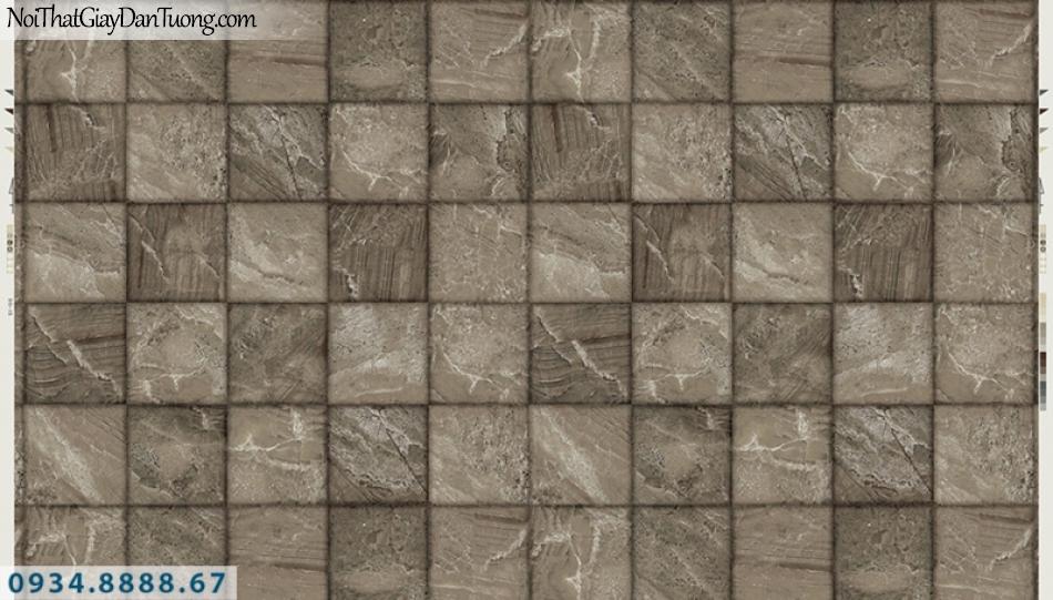 Giấy dán tường PIEDRA, giấy dán tường giả đá 3D, giả gỗ 3D, hình ô vuông 3D 22-041