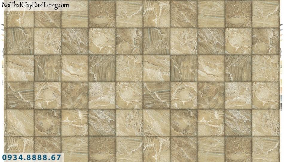 Giấy dán tường PIEDRA, giấy dán tường hình ô vuông màu vàng 3D 22-046