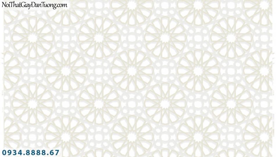 Giấy dán tường PIEDRA, giấy dán tường hoa văn 3D, họa tiết hình bánh xe, dây dích màu trắng 3D, trắng xám 22-033