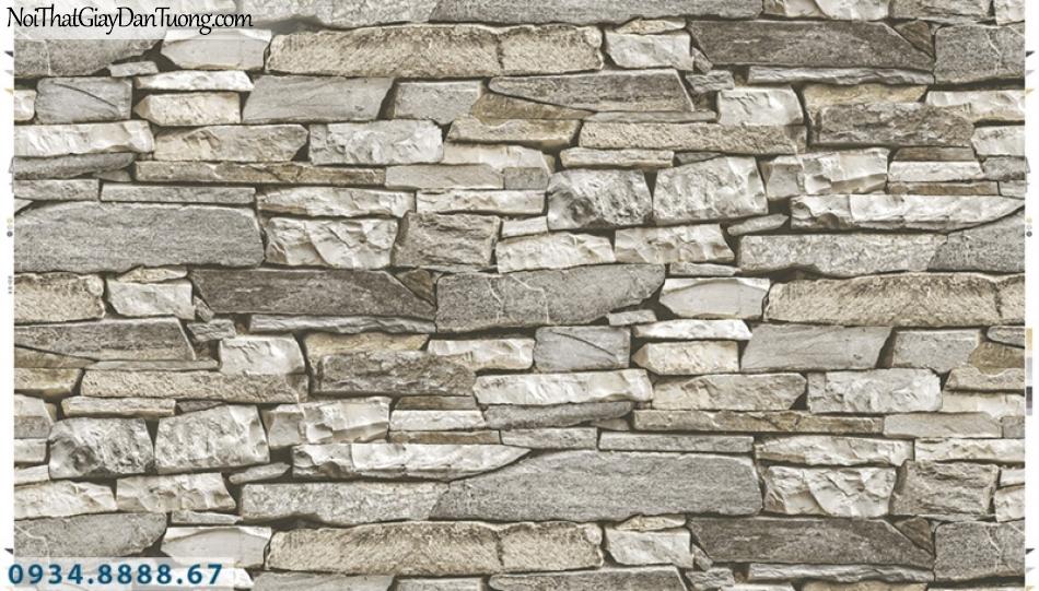 Giấy dán tường PIEDRA, giấy dán tường giả đá 3D, những viên đá bể ghép thành 22-051