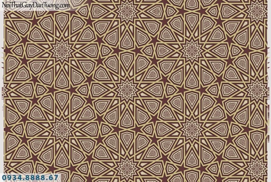 Giấy dán tường PIEDRA, giấy dán tường 3D hình tròn đẹp, màu vàng đỏ 22-086