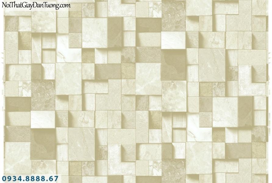 Giấy dán tường PIEDRA, giấy dán tường 3D hình vuông, những ô vuông to nhỏ xếp chồng nhau thành vách tường 3D đẹp 22-095