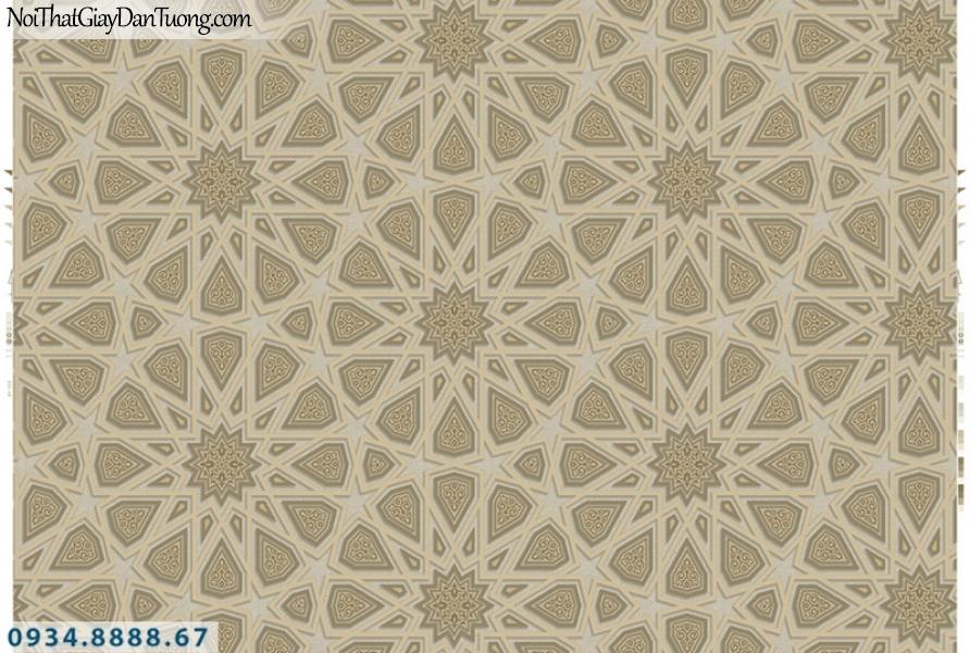 Giấy dán tường PIEDRA, giấy dán tường 3D họa tiết bánh xe màu vàng 22-081