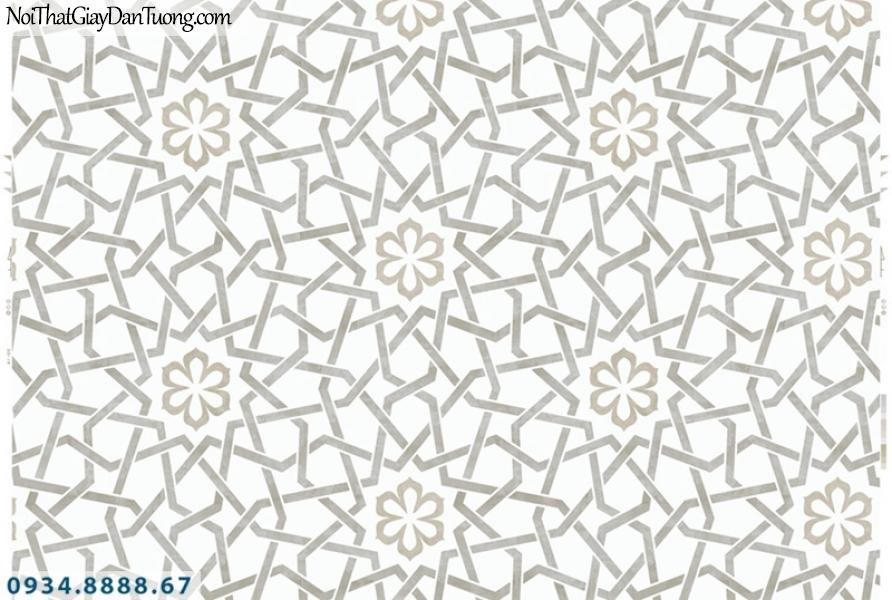 Giấy dán tường PIEDRA, giấy dán tường 3D màu trắng, màu trắng xám 22-062