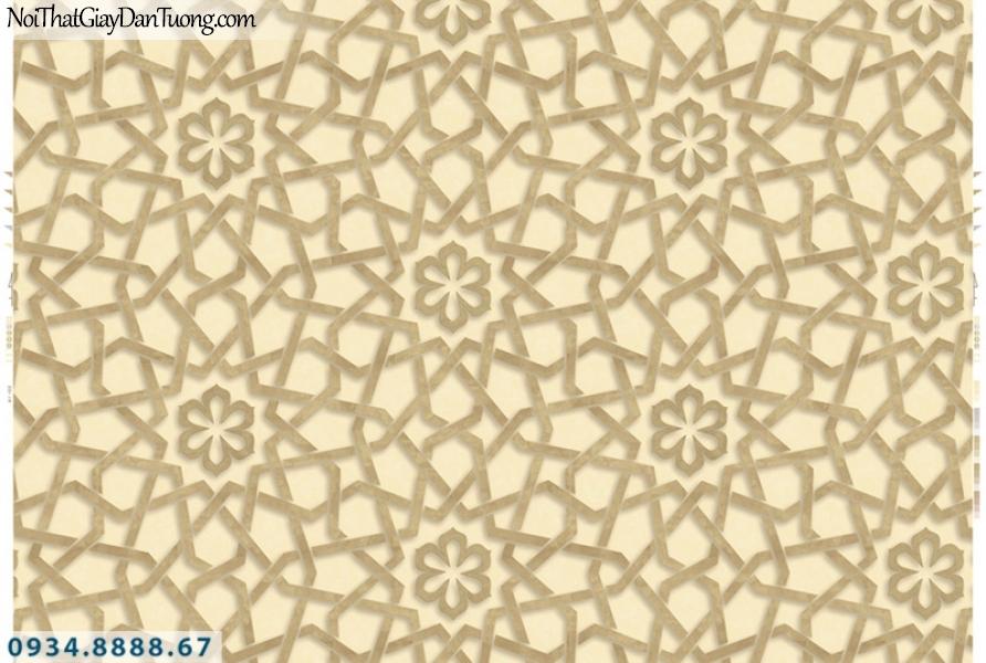 Giấy dán tường PIEDRA, giấy dán tường 3D màu vàng 22-064