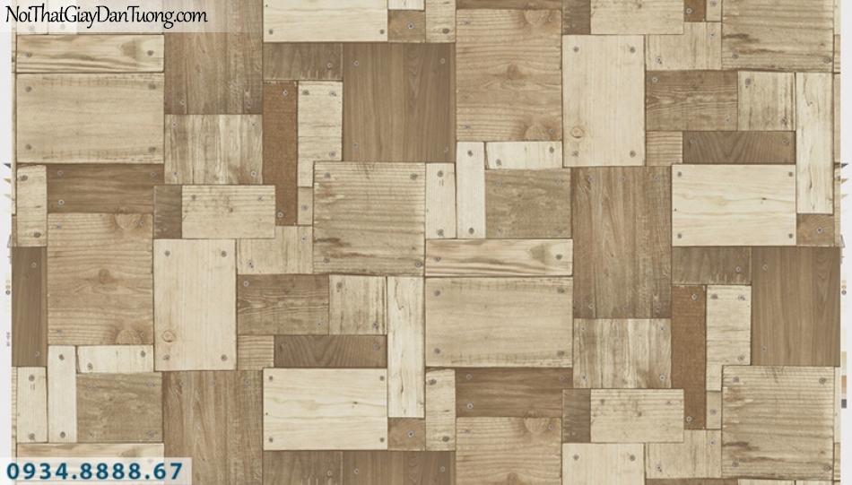 Giấy dán tường PIEDRA, giấy dán tường giả gỗ màu vàng 22-134