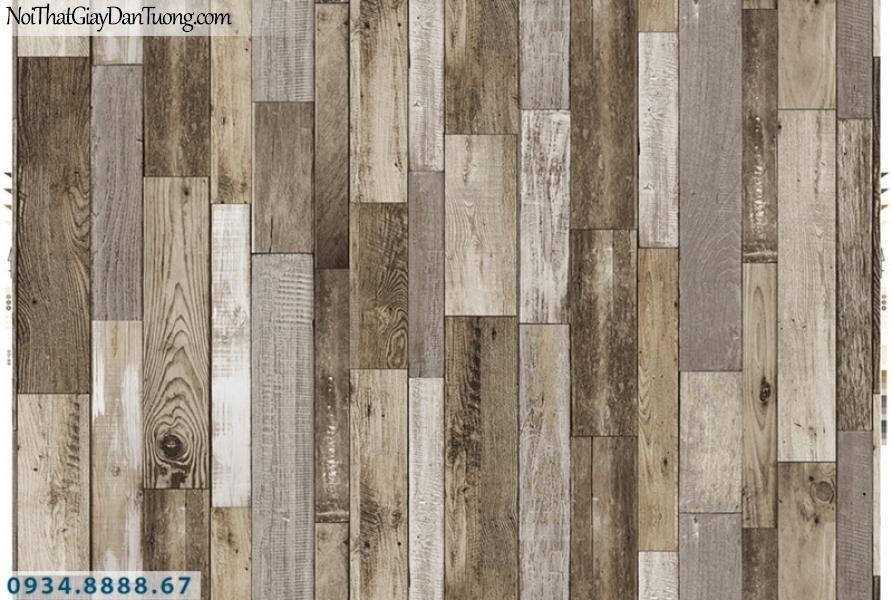 Giấy dán tường PIEDRA, giấy dán tường giả gỗ màu vàng, vàng nhạt, những miếng gỗ vuông 22-125