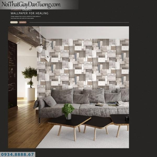 Giấy dán tường PIEDRA, giấy dán tường giả gỗ miếng bắt vít vào tường 22-133