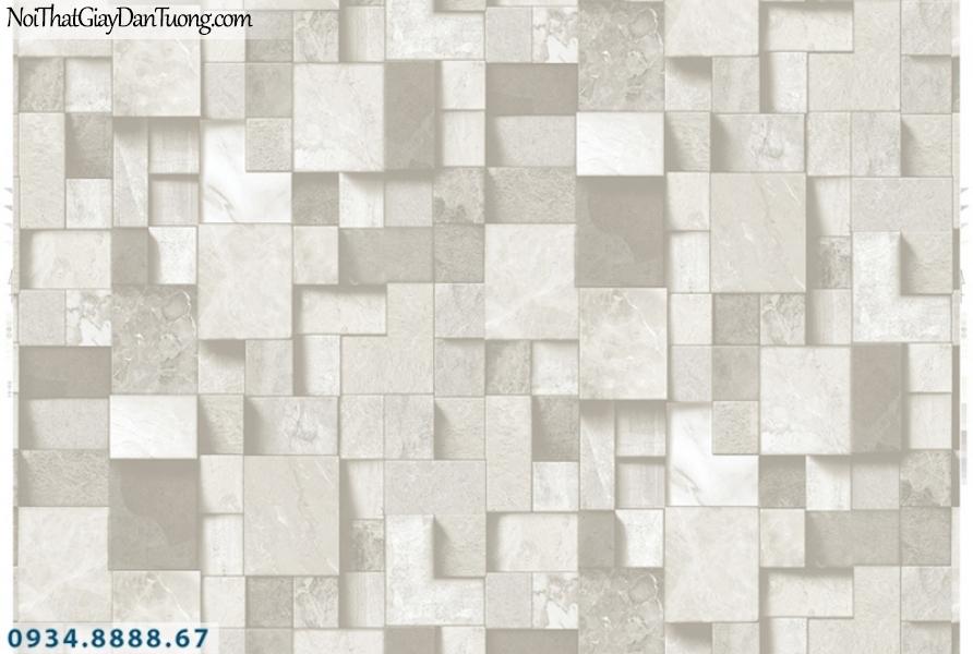 Giấy dán tường PIEDRA, giấy dán tường hình vuông 3D, giả gạch vuông, giả đá hình vuông, giả gỗ 22-094