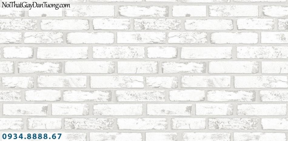 J 100   Giấy dán tường J100 Hàn Quốc, giấy dán tường giả gạch màu trắng, giấy giả gạch 3D đẹp 9363-1