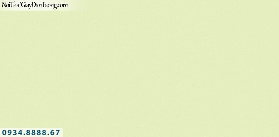 J 100   Giấy dán tường J100 Hàn Quốc, giấy dán tường màu xanh nõn chuối, xanh lá cây, giấy gân trơn 9388-1