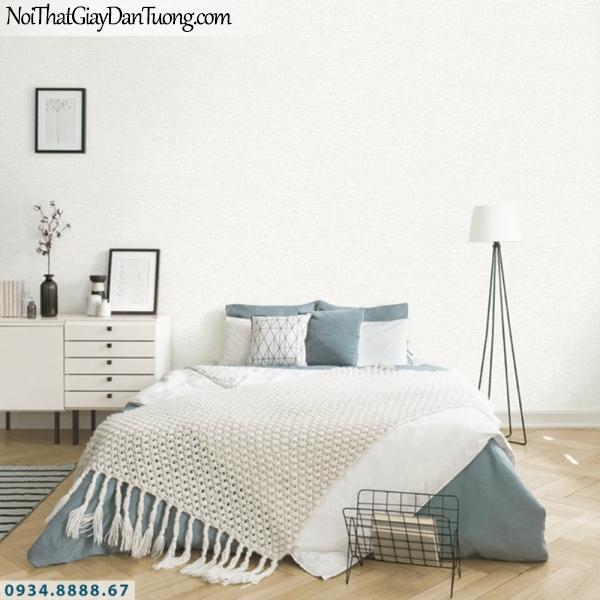 J100 2019 - 2020 | Giấy dán tường J100 mới | giấy gân trơn màu trắng xám | giấy dán tường p phòng ngủ
