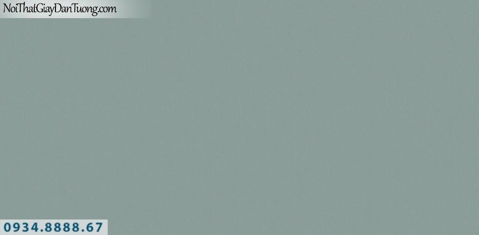 J100 2019 - 2020 | Giấy dán tường J100 mới | giấy trơn màu xanh ngọc, xanh lợt, xanh lá, cốm 9394-8