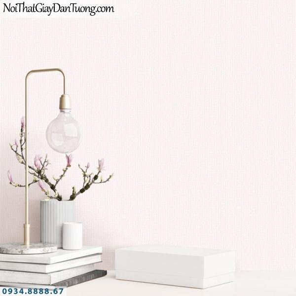 J100 2019 - 2020 | Giấy dán tường Hàn Quốc J100| giấy gân trơn gân màu hồng nhạt 9398-2 | bán giấy dán tường phòng bé trai