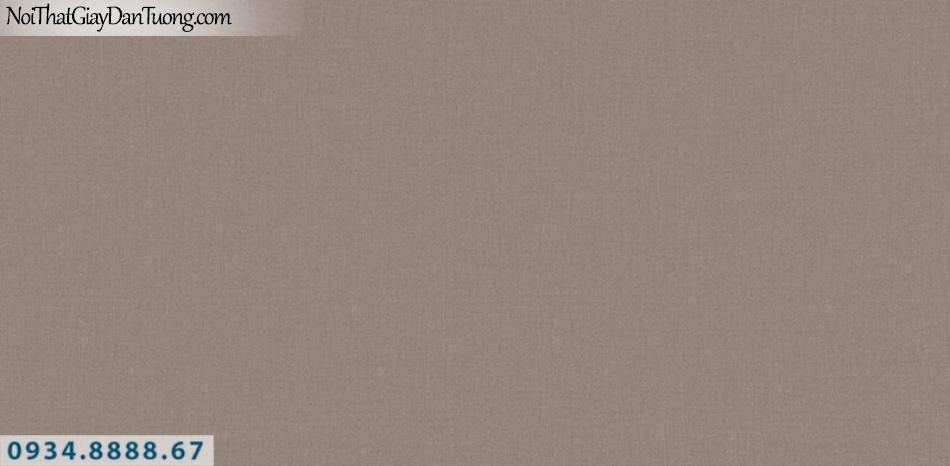 J100 2019 - 2020 | Giấy dán tường Hàn Quốc J100| giấy dán tường gân trơn màu nâu 9401-5