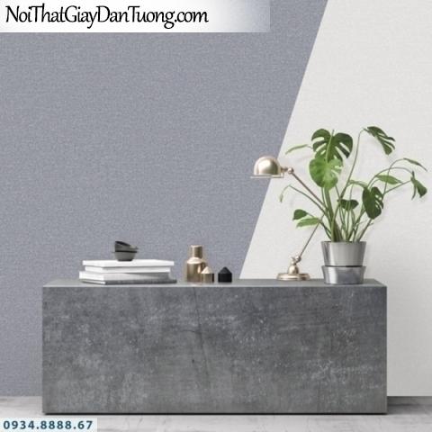 J100 2019 - 2020 | Giấy dán tường Hàn Quốc J100| giấy dán tường gân trơn màu xám 9401-7