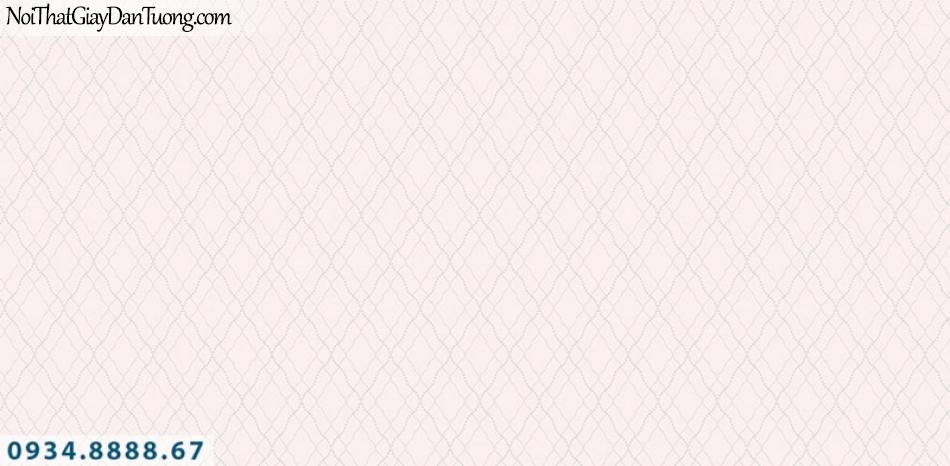 J100 2019 - 2020 | Giấy dán tường Hàn Quốc J100| giấy dán tường màu hồng, hình caro, hình con thoi 9399-2