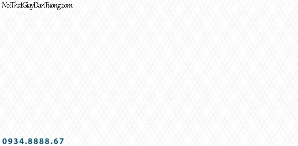 J100 2019 - 2020 | Giấy dán tường Hàn Quốc J100| giấy dán tường màu trắng vân kẻ hình ca rô, hình con thoi 9399-1
