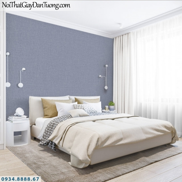 J100 2019 - 2020 | Giấy dán tường Hàn Quốc J100| giấy dán tường trơn gân màu tím, hình phối cảnh 9401-10
