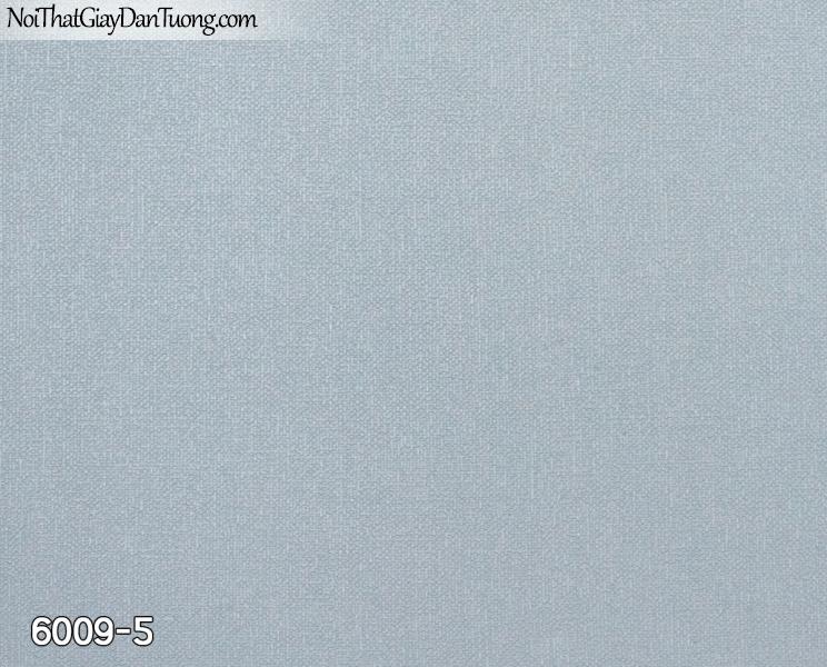 New Luck | Giấy dán tường New Luck 2019 - 2020 | giấy dán tường gân trơn màu xanh nhạt, xanh dương 6009-5