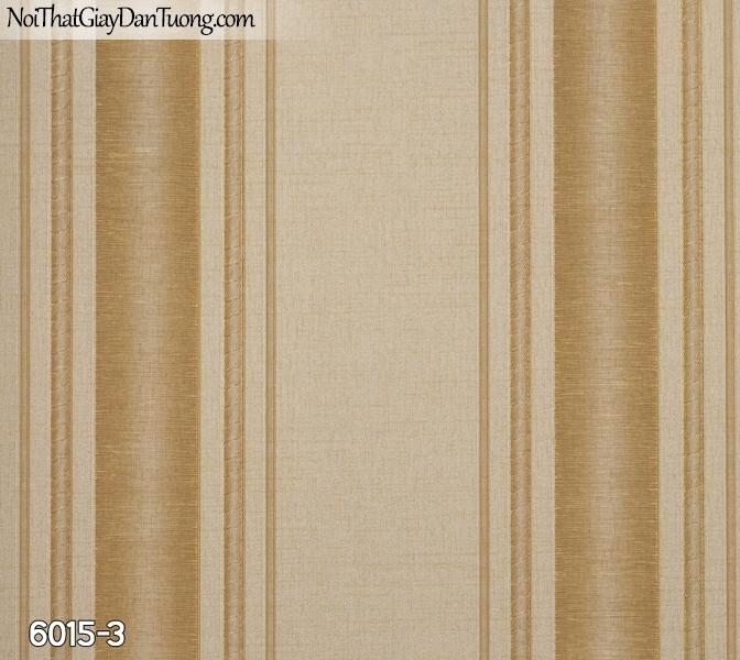 New Luck | Giấy dán tường New Luck 2019 - 2020 | giấy dán tường kẻ sọc màu vàng | giấy kẻ sọc bản to thẳng đẹp 6015-3
