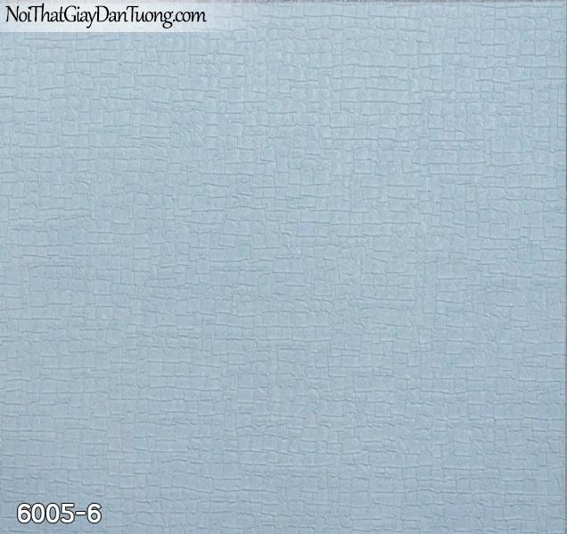 New Luck | Giấy dán tường New Luck 2019 - 2020 | giấy dán tường màu xanh, giấy gân họa tiết ô vuông nhỏ màu xanh dương, xanh lam 6005-6