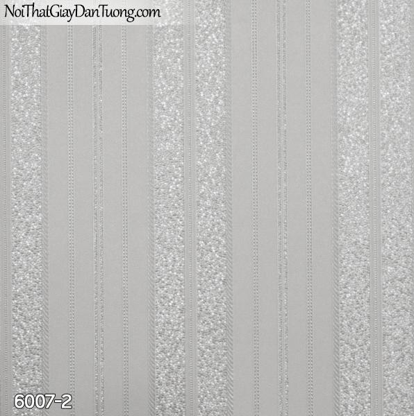 New Luck | Giấy dán tường New Luck 2019 - 2020 | giấy dán tường sọc bản lớn màu xám, sọc trơn, sọc gân 6007-2