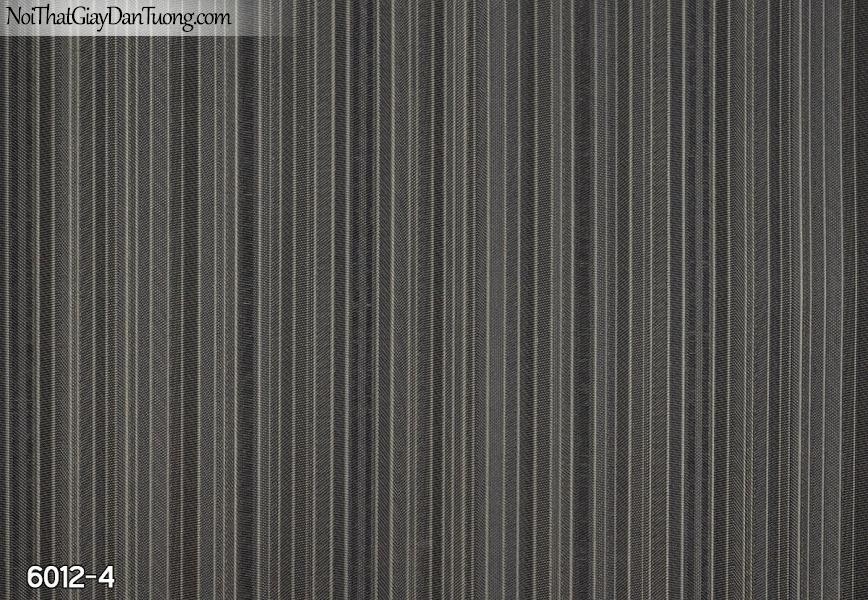 New Luck | Giấy dán tường New Luck 2019 - 2020 | giấy dán tường sọc màu đen, sọc nhỏ thẳng đều màu đen 6012-4