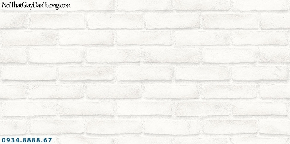 SOHO   Giấy dán tường SOHO 2019 - 2020   Giấy dán tường giả gạch, giấy dán tường giả gạch 3D màu trắng, màu trắng xám 56094-1