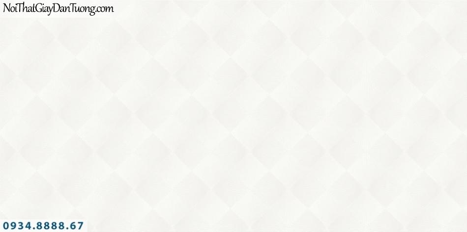 SOHO | Giấy dán tường SOHO 2019 - 2020 | Giấy dán tường kẻ ca rô màu trắng, màu hồng nhạt, hình ô vuông, con thoi 56105-1