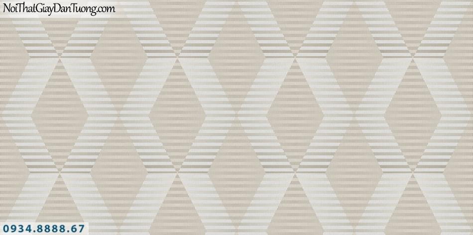 SOHO | Giấy dán tường SOHO 56117-1 | giấy dán tường màu vàng sọc ngang tạo thành ô ca rô đậm nhạt