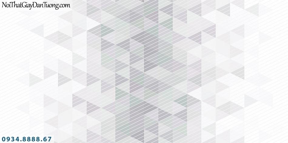 SOHO | Giấy dán tường SOHO 56126-1 | giấy dán tường họa tiết ca rô chuyển màu xám trắng
