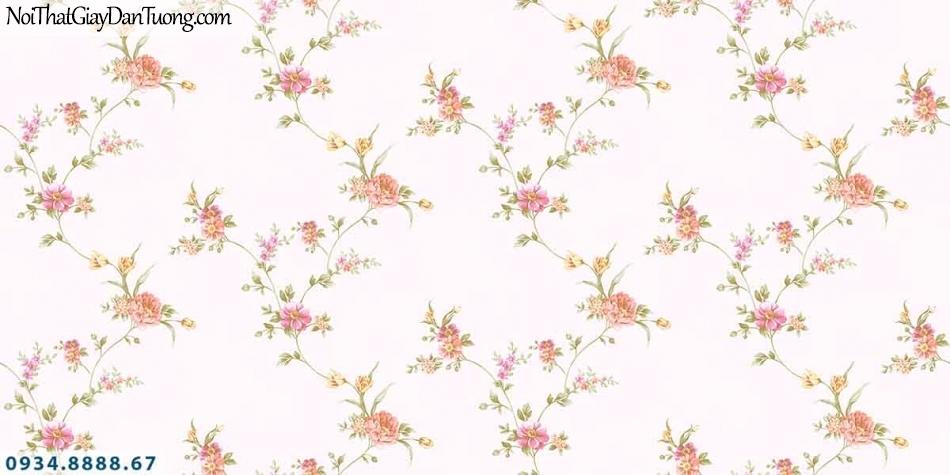 Lily | Giấy dán tường Lily 36001-2 | giấy dán tường bông hoa dây leo, dây leo những bông hoa nhỏ, hoa màu hồng